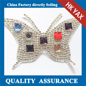 Yax-C035 Butterfly shape rhinestone patches