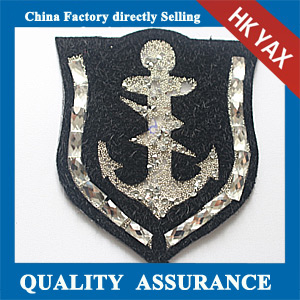 Yax-C036 shield with villus   rhinestone patches