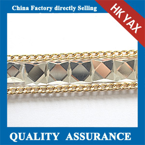 Yax-C039 aluminum crystal chain for decoration