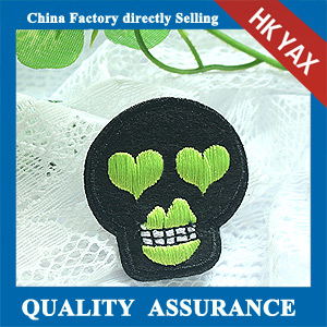 customized design embroidery skull patches