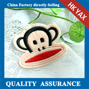 high quality custom embroidery monkey patches