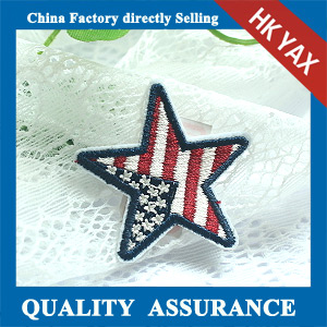 high quality star design embroidery patches