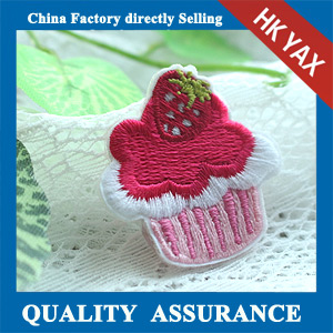 New design custom embroidery flower patch
