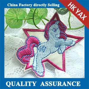 customized embroidery cute horse patch for logo