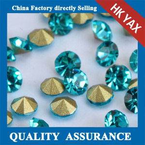 PP24 aquamarine Glass point back rhinestone