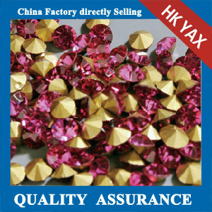 China supplier Rose ss12 pointback stone