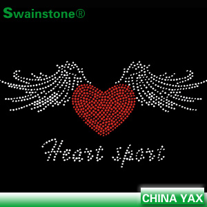 Wing rhinestone transfer designs